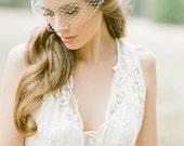 PARKER Birdcage veil in ivory or white