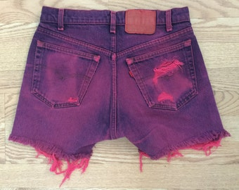 The Vintage Neon Pink Levi Shorts