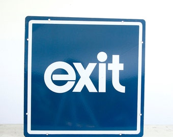 Vintage Porcelain Exit Sign / Industrial Decor
