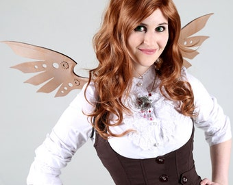 Steampunk Mechanical-Look Wings - 16 Color Combos - for Cosplay, Parties, Balls, Galas, Cosplay, Cons, Halloween Costume