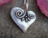Valentine heart silver pendant heart necklace dangling heart pendant jewelry design romantic jewelry gift pendant metalwork jewelry gifts