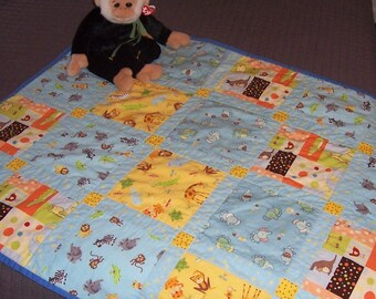 Jungle animal friends baby blanket