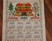 1986 Tea Towel Calendar, Bless This Home