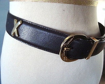 Vintage Paloma Picasso Dark Brown Leather Belt Size M
