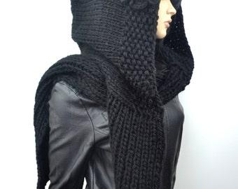 Hoodie Scarf in black