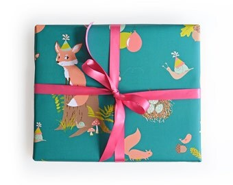 Gift Wrap - Woodland party