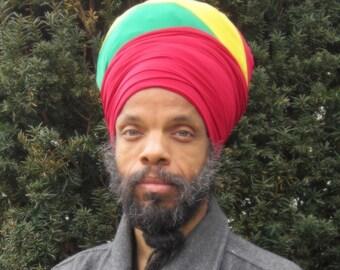 Men Dread Locs EZ Wrap -Men Headwrap-Men Turban- SKU: WWJ309 - Choose a Length