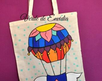 Hot-air ballon tote Bag