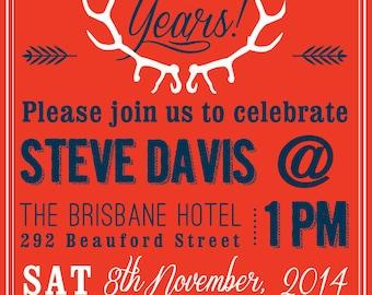 DIY Printable Mens 30th Birthday Invitation