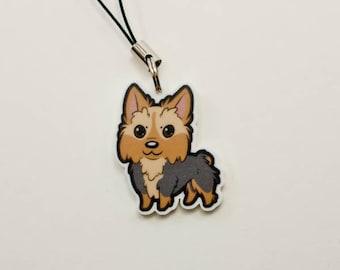 Yorkshire Terrier cute acrylic charm keychain