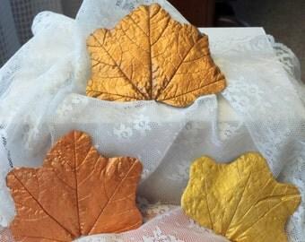 Metallic Leaves-Set of 3