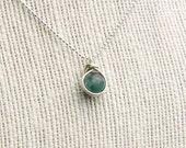Natural Emerald Necklace, May Birthstone Necklace, Green Gemstone, Sterling Silver Chain, Emerald Pendant Necklace, Dainty Necklace