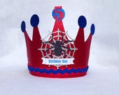 Spider Man Birthday Crown Party Hat for super hero party