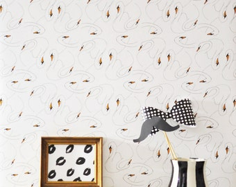 Removable Wallpaper // Avocado Print // Perfect for way to add