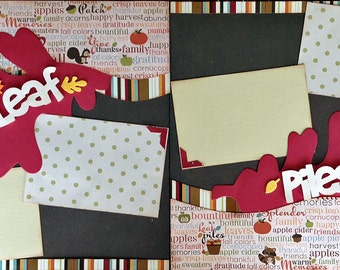 12x12 Scrapbook Layout Kit Fall Leaf Piles 2 Pages