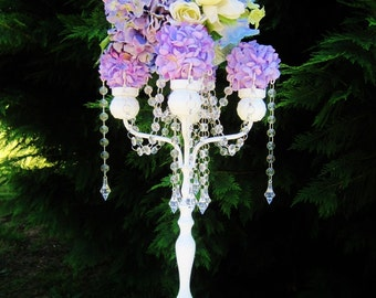 Princess Auralia Extra Tall Wedding Candelabra MADE TO ORDER