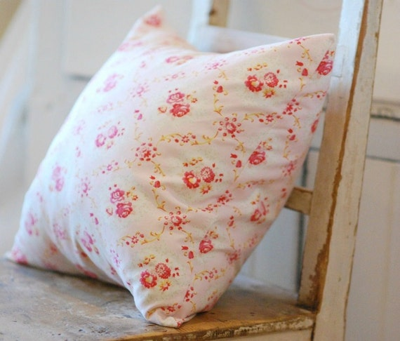 Shabby Chic Pillow Cover Pink Throw Pillows by KenilworthPlace