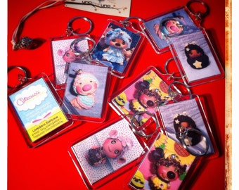 Transparent acrylic customizable keychains
