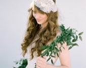 Wedding Hair Accessory, Vintage inspired Flapper bridal headband with crystals and rhinestones, Floral Headpiece - Style 407