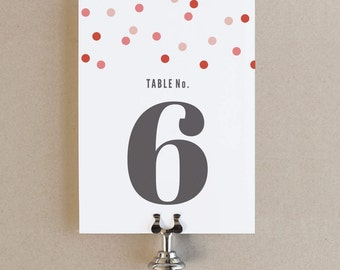 Instant Download - Confetti - DIY Printable Table Numbers