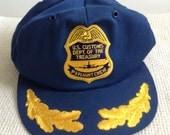 HOLD for Caleb.  Vintage P 3 Flight Crew Cap.  US Customs Dept. of Treasury.  Lockheed Airplane Hat.