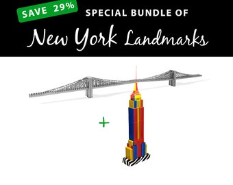 New York Landmarks, SAVE 29% with this value bundle || Brooklyn Bridge || Empire State Building