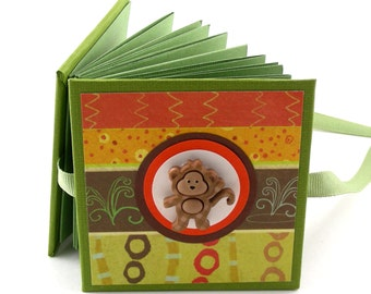Monkey See Monkey Do Photo Book, 2x3 wallets - green, aqua, gold
