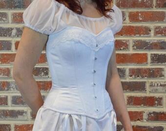 sheer chemise-white chemise-romantic-19th century chemise-black chemise-bridal chemise-victorian chemise-sheer blouse-the secret boutique