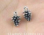 10pcs High Quality Antique Silver Pine Cones Charm / Pendant (10959)