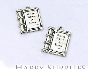 4pcs High Quality Antiqued Silver Book Charm / Pendant (70017)