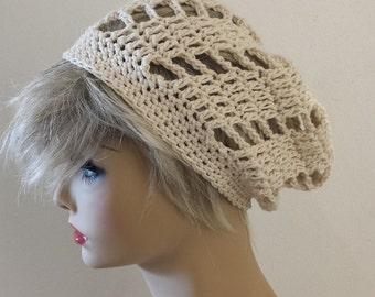 Flash SALE Hat Skull Cap crocheted Knitted in CREAM All Season, HAT Skull Cap Beanie Women Men available 23 colors, Beanie Hat