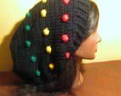 Rasta Red Yellow Green Slouch Hat Beanie