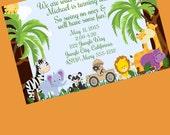 Jungle Invitation, Jungle Baby Shower, Jungle Birthday, Safari Invitation