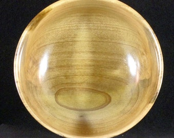 Hand Turned Wooden Bowl - Cucumber Tree