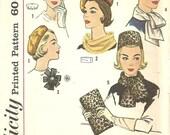 Simplicity 4178 / Vintage Fashion Accessories Sewing Pattern / Hat Cap Beret Scarf Millinery Purse Clutch Handbag