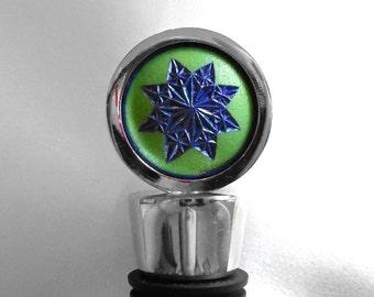 Wine Bottle Stopper, Golf Gift For Golfer, Hand Carved Golf Ball, Wine Lover Gift
