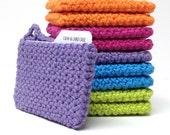 CYBER50: Credit Card Case | Cash Case | Card Wallet | Crochet Money Holder | Purple