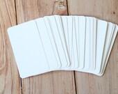 50pc Elegant LINEN White Lakeland Series Business Card Blanks