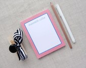 Personalized Notepad | Japanese Ocean Wave Pattern | Custom Colors