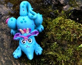 Polymer Clay Dragon 'Pupplett' - Limited Edition Handmade Collectible