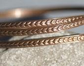 Ring Laurel Wreath Stock Shank 3.4mm Textured Metal Wire - Rings Bracelets Pendants Metalwork