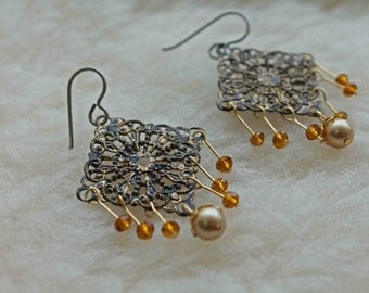 Your Metal Choice: Niobium, Titanium, Surgical Steel - Lady Filigree - Hypoallergenic Earrings for Sensitive Ears