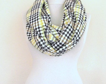 Houndstooth  Scarf / Woman Scarf / Unisex Scarf / Loop Scarf / Winter Scarf - Cowl /  Infinity scarf / Men scarf