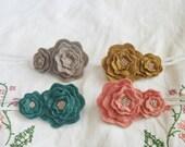 Baby Girl Headband - Flower Hair Accessory - Floral Statement Headband - Wool Felt Hair Accessory