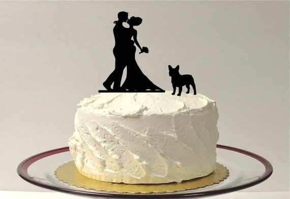 etsy wedding cake topper dog made in usa with pet wedding cake topper silhouette 14051
