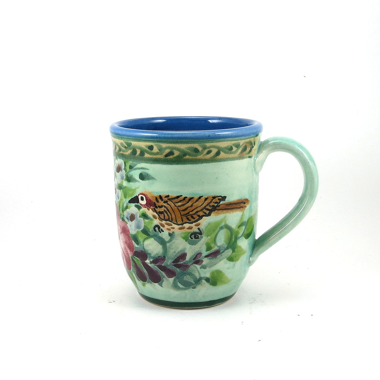 Unique Light Blue Porcelain Coffee Mug Ceramic Coffee Cup