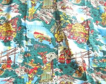 Rustic Indian Novelty Cotton Fabric Yardage