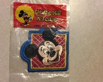 Classic Mickey Mouse Disney Embroidered Character Patch