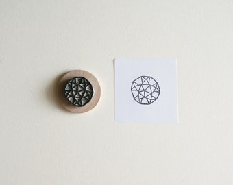Sacred Geometry No. 2 - Hand Carved Rubber Stamp