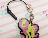 My Little Pony Fluttershy Cell Phone Charm with Smartphone Connector